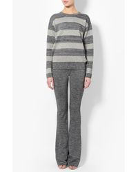 Derek Lam - Gray Striped Lurex Sweater - Lyst