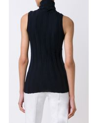 Derek Lam - Blue Sleeveless Turtleneck - Lyst