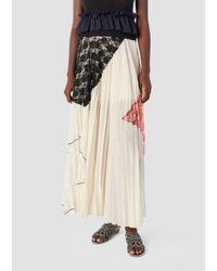 581d33974f Derek Lam 10 Crosby Pleated Midi Skirt in Gray - Lyst