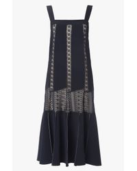 Derek Lam - Black Embroidered Lace Dress - Lyst