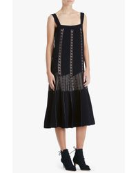 Derek Lam - Black Embroidered Lace Dress - Lyst