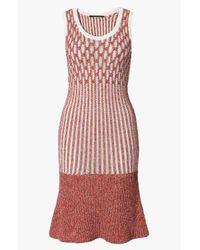 Derek Lam - Orange Ruffle Hem Knit Dress - Lyst