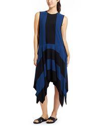 Derek Lam - Blue Stripe Fluid Dress - Lyst