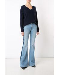 Derek Lam | Blue V-neck Sweater | Lyst