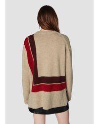 10 Crosby Derek Lam - Red Crewneck Blanket Sweater - Lyst