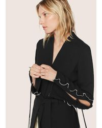 Derek Lam - Black Wrap Jacket With Ruffle Sleeve Detail - Lyst