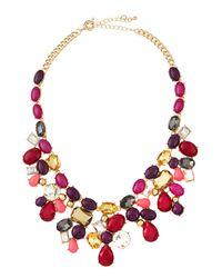 Fragments - Multicolor Garden Bib Necklace - Lyst