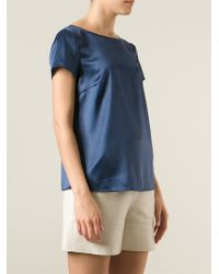 Armani - Blue Short Sleeve Blouse - Lyst