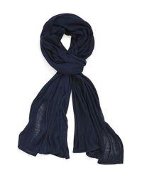 Echo - Blue Solid Wrap - Lyst
