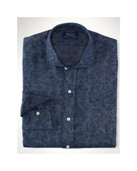 Polo Ralph Lauren - Blue Slim-fit Paisley Linen Shirt for Men - Lyst