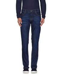 Tru Trussardi - Blue Denim Trousers for Men - Lyst