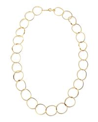 Stephanie Kantis | Metallic 24k Gold Plate Wavy Oval-link Necklace | Lyst