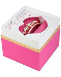 Betsey Johnson | Pink Rose Gold-tone Crystal And Stone Skull Bangle Bracelet Set | Lyst
