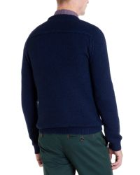 Ted Baker | Blue Crew Neck Jumper for Men | Lyst