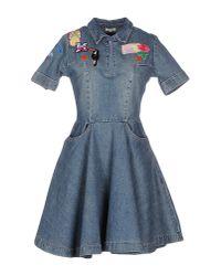Manoush - Blue Short Dress - Lyst