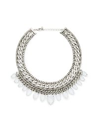 Forever 21 - Metallic Curb Chain Teardrop Necklace - Lyst