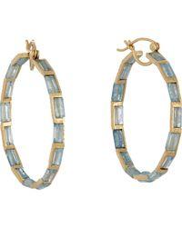 Nak Armstrong | Blue Women's Gemstone Hoops | Lyst