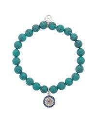 Melissa Odabash - Blue Rhinestone Stretch Bracelet - Lyst