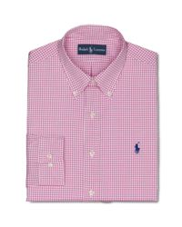 Ralph Lauren | Polo Custom Fit Pink and White Check Dress Shirt for Men | Lyst