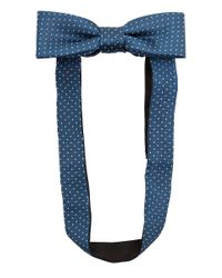 Simon Carter | Blue Teal Pin Dot Silk Bow Tie for Men | Lyst