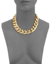 Michael Kors - Metallic Curb Chain Toggle Necklace - Lyst