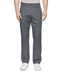 Calvin Klein | Gray Yarn Dye Slub Twill Pants for Men | Lyst
