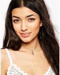 ASOS | Metallic Charm Cluster Choker Necklace | Lyst