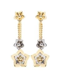 Fendi | Metallic Flower Earrings | Lyst
