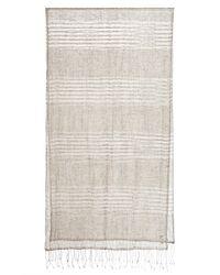 Eskandar - Natural Two-tone Stripe Linen Scarf - Lyst