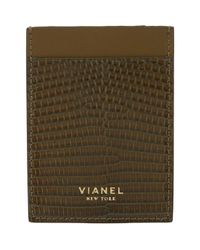 Vianel - Green Lizard V1 Card Case for Men - Lyst