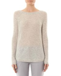 Vince - Gray Deep Raglan-Sleeve Cashmere Sweater - Lyst