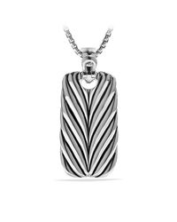David Yurman - Metallic Pavé Reversible Tag for Men - Lyst