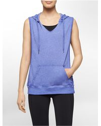 Calvin Klein | Blue White Label Performance Hooded Sleeveless Vest | Lyst