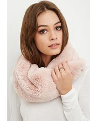Forever 21 - Pink Faux Fur Snood - Lyst