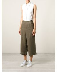 Societe Anonyme - Brown Wide Cropped Trousers - Lyst