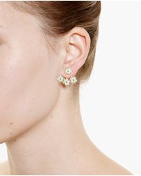 Yvonne Léon | Blue 18K Gold And Turquoise Flower Stud | Lyst