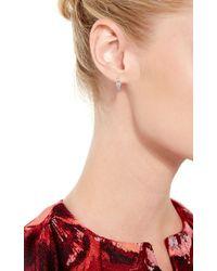 Joelle Jewellery | 18K White Gold Antique Hoop Earrings | Lyst