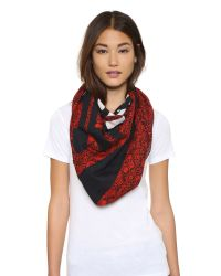 Marc By Marc Jacobs | Strawberry Thief Scarf - Ruby Red Multi | Lyst
