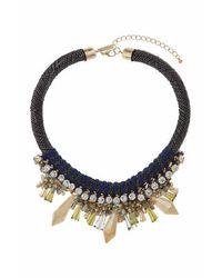 TOPSHOP | Black Rhinestone Shard Collar | Lyst