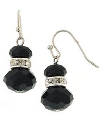 2028 | Black Jet Crystal Snowman Earrings | Lyst