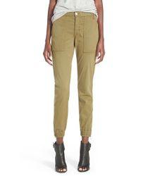 Joe's Jeans - Green 'Flight' Zip Ankle Jogger Pants - Lyst