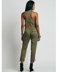 Free People - Green Roaring Rayon Jumpsuit - Lyst