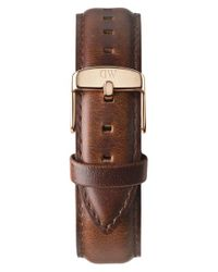 Daniel Wellington | Brown 'classic St. Mawes' 20mm Leather Watch Strap | Lyst