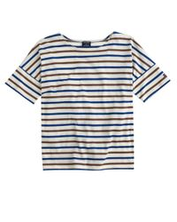 J.Crew | Blue Saint James Short-sleeve Slouchy T-shirt | Lyst
