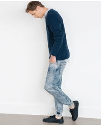 Zara | Blue Baggy Jeans for Men | Lyst