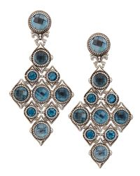 Konstantino | London Blue Topaz Diamond-shape Earrings | Lyst