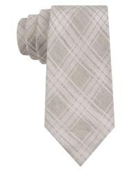 Calvin Klein | Yellow Silk-rich Plaid Tie for Men | Lyst