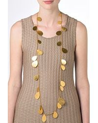 Herve Van Der Straeten - Metallic Gold-Plated Long Tears Necklace - Lyst