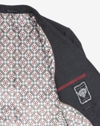 Ted Baker - Gray Debonair Wool Jacket for Men - Lyst