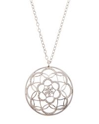 Mimi So | Metallic Jasmine Medallion-Pendant Necklace W/ Diamonds | Lyst